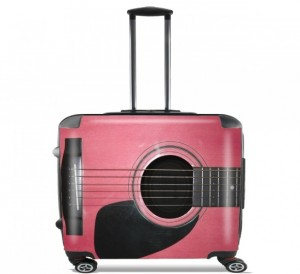 pink guitar carry on